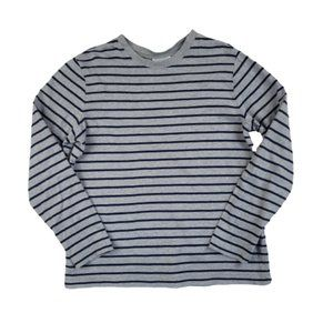 Hanna Andersson Gray & Blue Striped Long Sleeve …